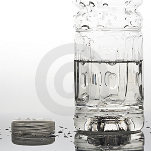 Close Up Of Water Bottle And Cap Royalty Free Stock Images - Image: 4222349