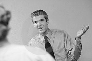 Sorrisos Do Homem De Negócios Fotos de Stock - Imagem: 4226343