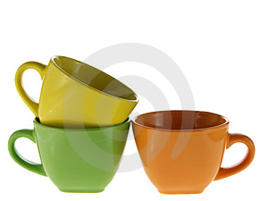 Three Color Cups Stock Photos - Image: 4226713
