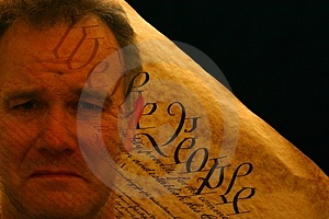 Man's Portrait Superimposed Over US Constitution Stock Photos - Image: 4231853