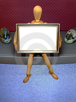 Manikin With Frame /D Stock Images - Image: 4236614