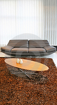 Table and sofa