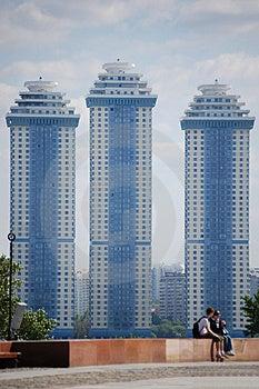 Three Skyscrapers Stock Photography - Image: 4239512