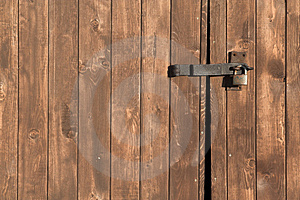 Wood Gate Background Stock Image - Image: 4242831