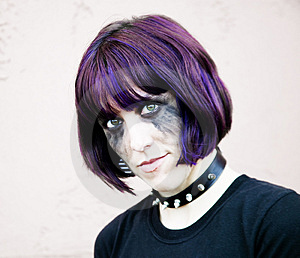 Alternative Girl With A Runny Makeup Royalty Free Stock Photography - Image: 4252187