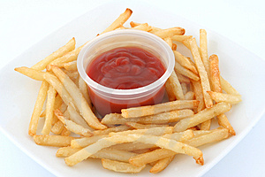 Fresh fries Stock Photo
