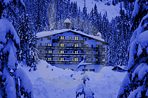 Hotel In Snow Royalty Free Stock Image - Image: 4263916