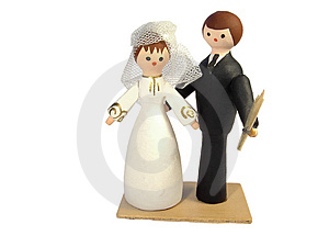 Figures Of The Bridegroom And The Bride Stock Photos - Image: 4266473