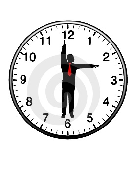 Businessman Clock Hands Time Royalty Free Stock Images