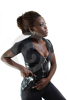 Security Model Royalty Free Stock Photos - Image: 4267348