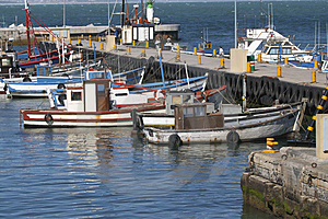 Fishing Boats In Kalk Bay Harbour Royalty Free Stock Images - Image: 4269849