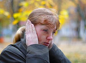 Woman Cover Your Ears Royalty Free Stock Photography - Image: 4271047
