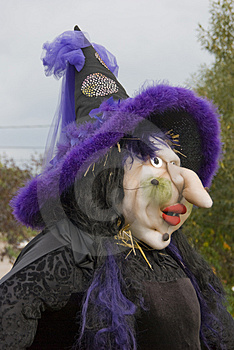 Ugly Witch Scarecrow Stock Photos - Image: 4271553