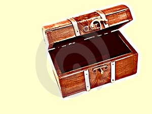 Opened Treasure Chest Stock Images - Image: 4273284