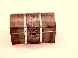 Closed Treasure Chest Stock Photo - Image: 4273290