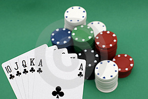 Poker Chips And Cards Royalty Free Stock Photos - Image: 4277658