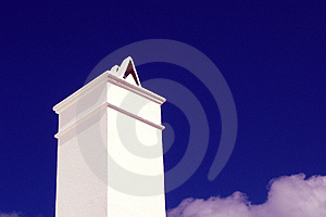 Chimney Against Blue Sky Royalty Free Stock Photos - Image: 4278938