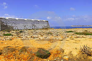 Portugal, Algarve, Sagres: Fortification Stock Photos - Image: 4280833