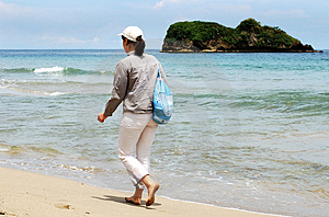 Walking In Puerto Viejo Royalty Free Stock Image - Image: 4281866