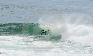 Surfer Surfing Dump Wave Stock Photos - Image: 4283763