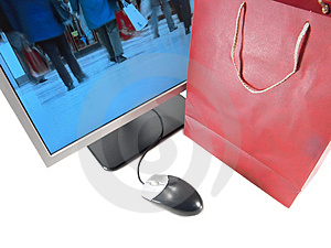 Internet Online Shopping Stock Image