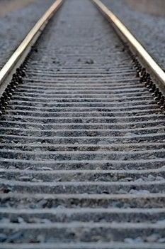 Railroad Tracks Royalty Free Stock Photo - Image: 4290655