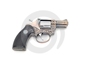 Lighter Pistols On White Royalty Free Stock Photography - Image: 4296567