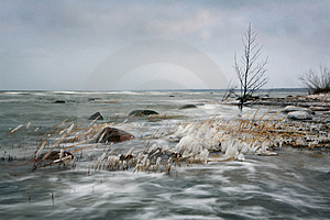 Winter Seascape Stock Photography - Image: 4296842