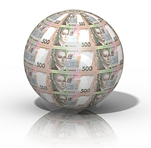 Money globe Royalty Free Stock Photography