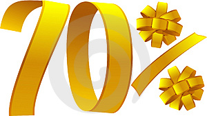 Discount - 70 Percent Stock Images - Image: 4299164