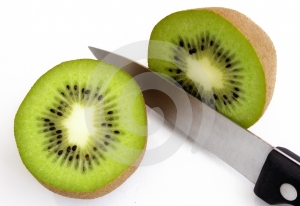 Sliced Kiwi Fruit Free Stock Photography