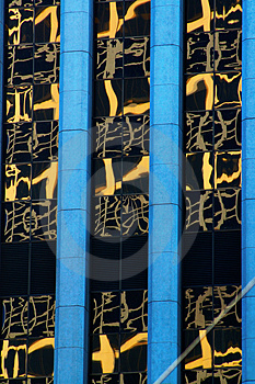 In Japan, Window Reflections Royalty Free Stock Images - Image: 4303169