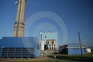 Heat And Power Plant Royalty Free Stock Image - Image: 4304046