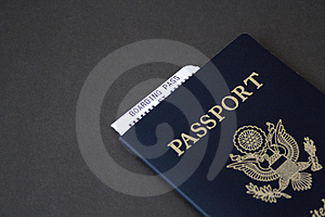 Passport and boarding pass Stock Image