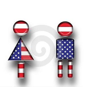 American Couple Royalty Free Stock Photo - Image: 4308755