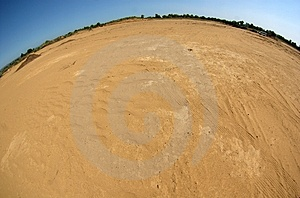 Fisheye Desert View Stock Photos - Image: 4310363
