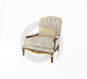 Armchair 3D Computer Rendering On White Background Royalty Free Stock Image - Image: 4313246