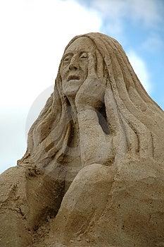Sad Sand Woman Stock Images - Image: 4316124