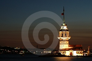 Istanbul sightseeing Maiden´s Tower Stock Image
