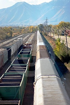 Train Yard Stock Photography - Image: 4318852