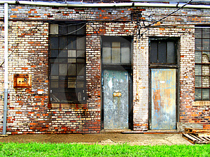 Deserted doorways Royalty Free Stock Image