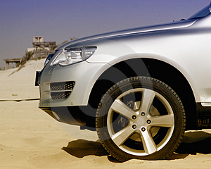 Front Part of Car Stock Photography