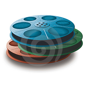 3 Spools With Tape. Different Colors. Stock Photos - Image: 4328813
