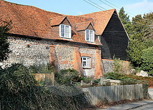 Traditional Brick And Flint English Rural House Royalty Free Stock Image - Image: 4334936