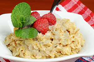 Oatmeal And Fruit Stock Image - Image: 4337101