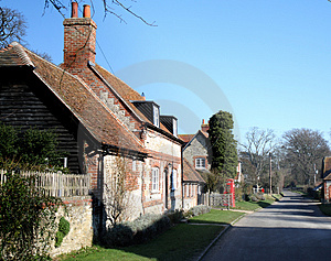 English Village Street Royalty Free Stock Photography - Image: 4341147