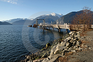 Dock At Porteau Cove Provincial Park Royalty Free Stock Image - Image: 4343686