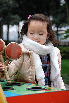 Beautiful Girl Play Toys Royalty Free Stock Images - Image: 4351949