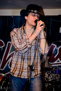Singer With A Microphone Stock Photo - Image: 4352230