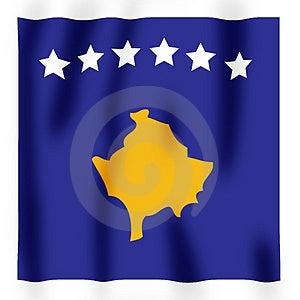 Kosovan Flag 2 Royalty Free Stock Photography - Image: 4353297